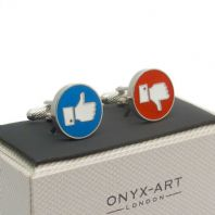 Like / Dislike Thumbs up / Thumbs Down Cufflinks In Gift Box CK849